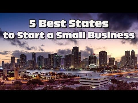 Top 5 Small Business Friendly States