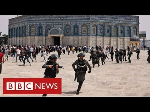 Clashes in Jerusalem hours after Israel-Palestinian ceasefire - BBC News